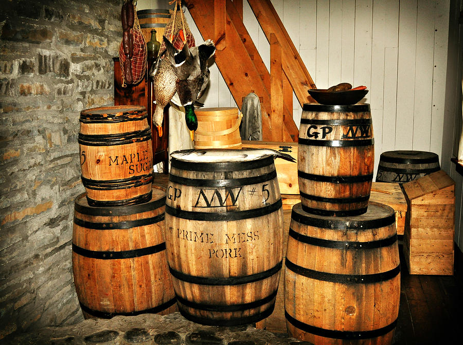 Rustic Photograph - Barrels  by Marty Koch