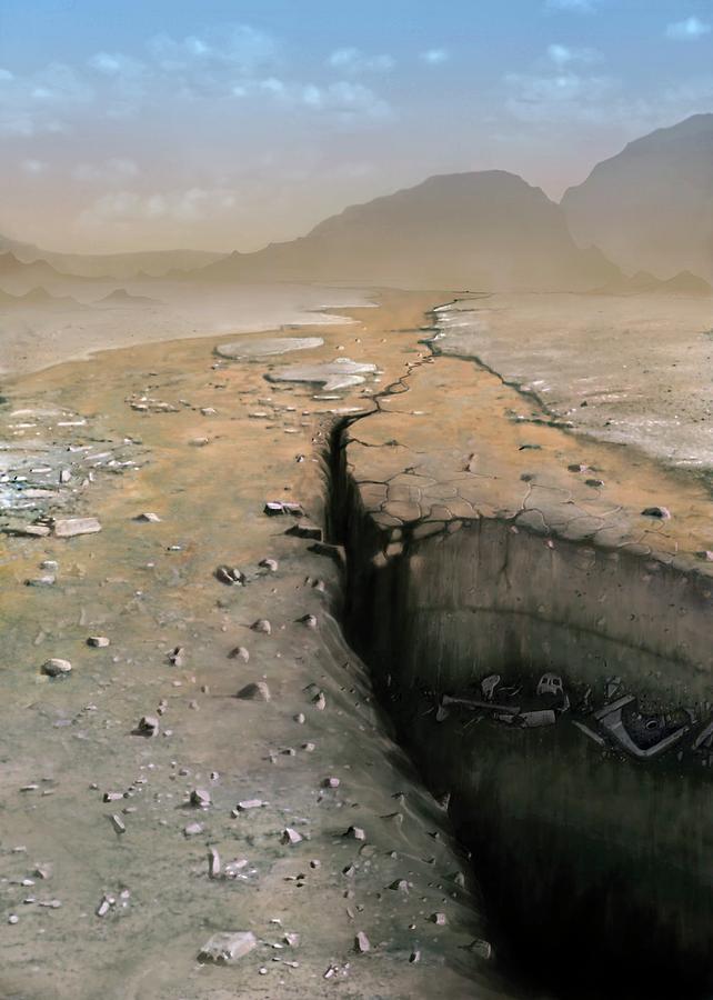 Future Photograph - Barren Future Earth by Mark Garlick/science Photo Library