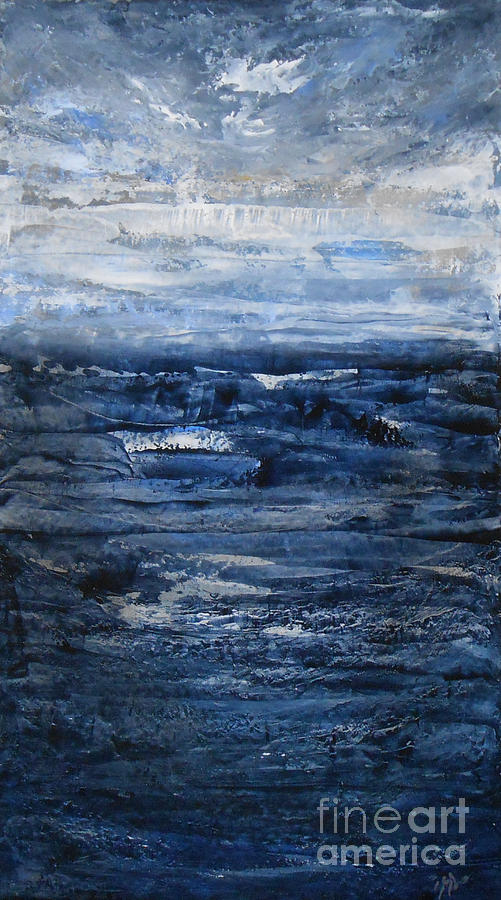 Seascape Painting - Barrier by Jane  See