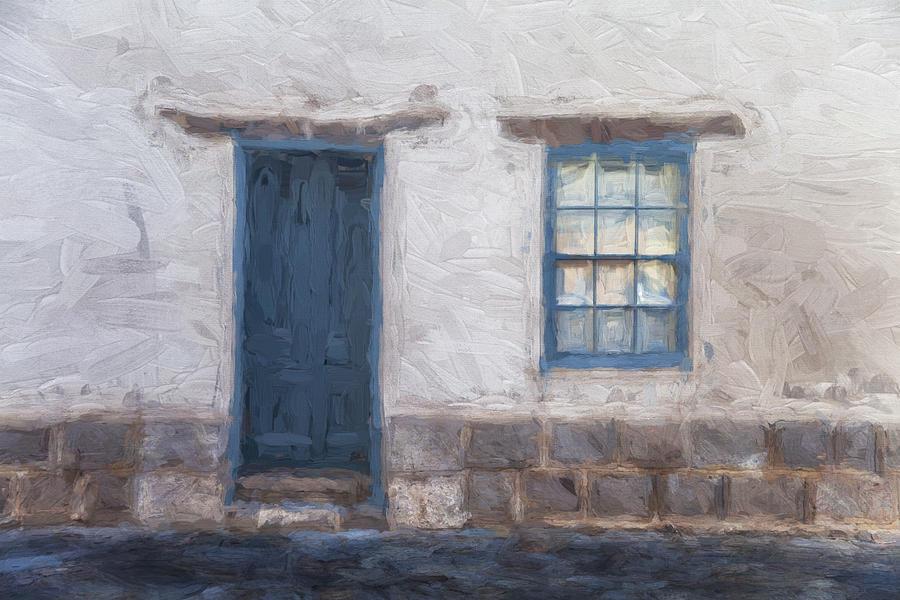 Arizona Mixed Media - Barrio Historico Tucson Painterly Look by Carol Leigh