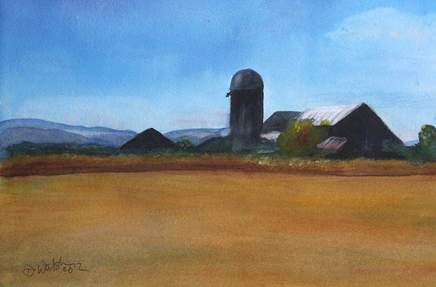 Artist Painting - Barton Farm by Donna Walsh