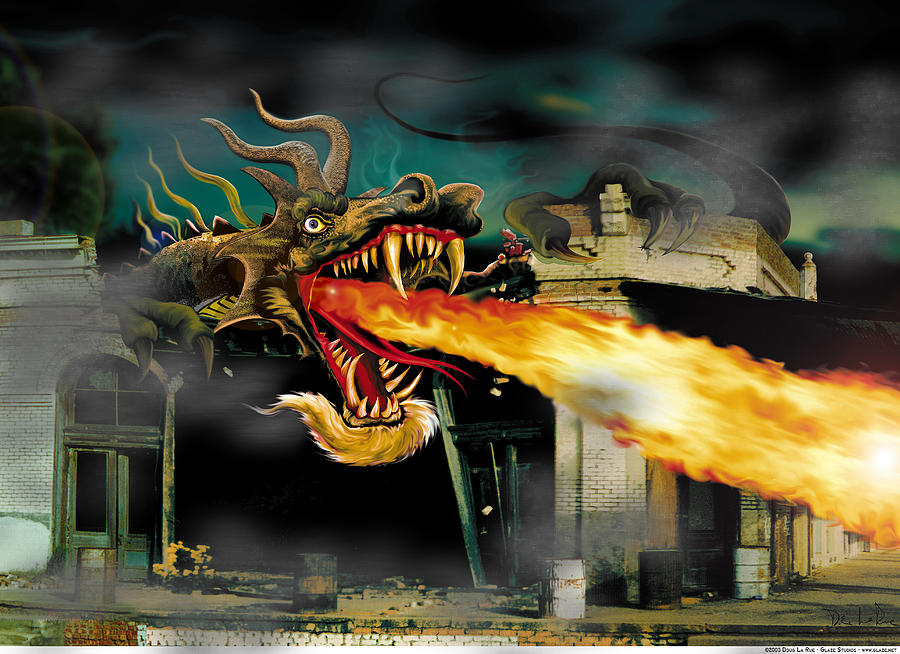 Dragon Digital Art - Barton the Mutant Salamander by Doug LaRue