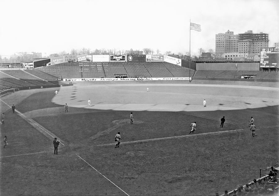 1924 Photograph - Baseball At Yankee Stadium by Underwood Archives