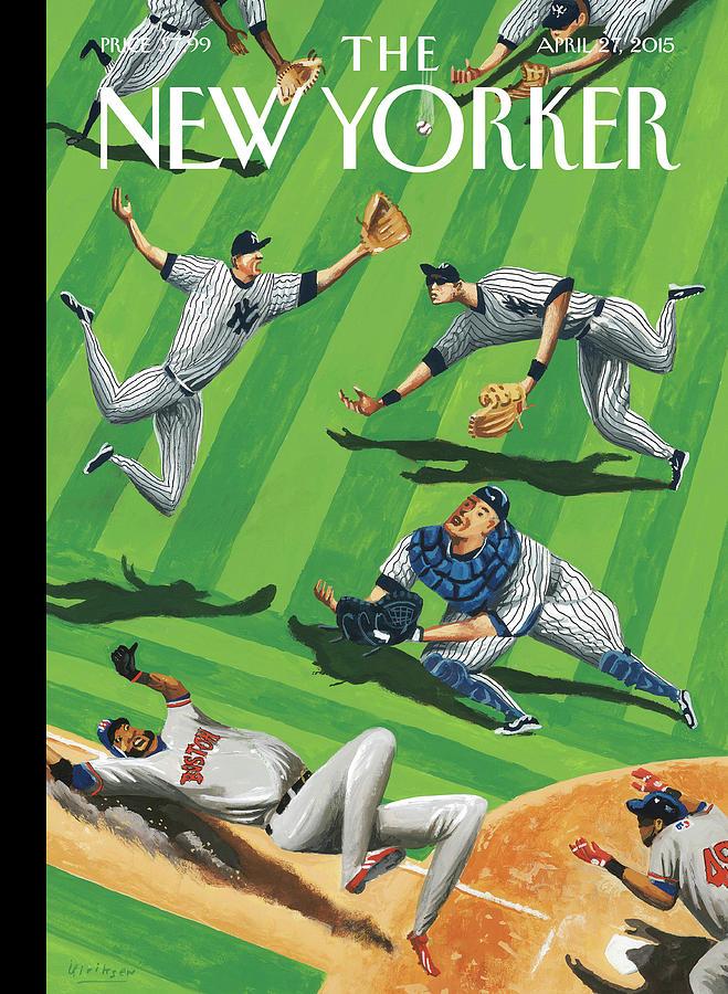 Baseball Ballet Painting by Mark Ulriksen