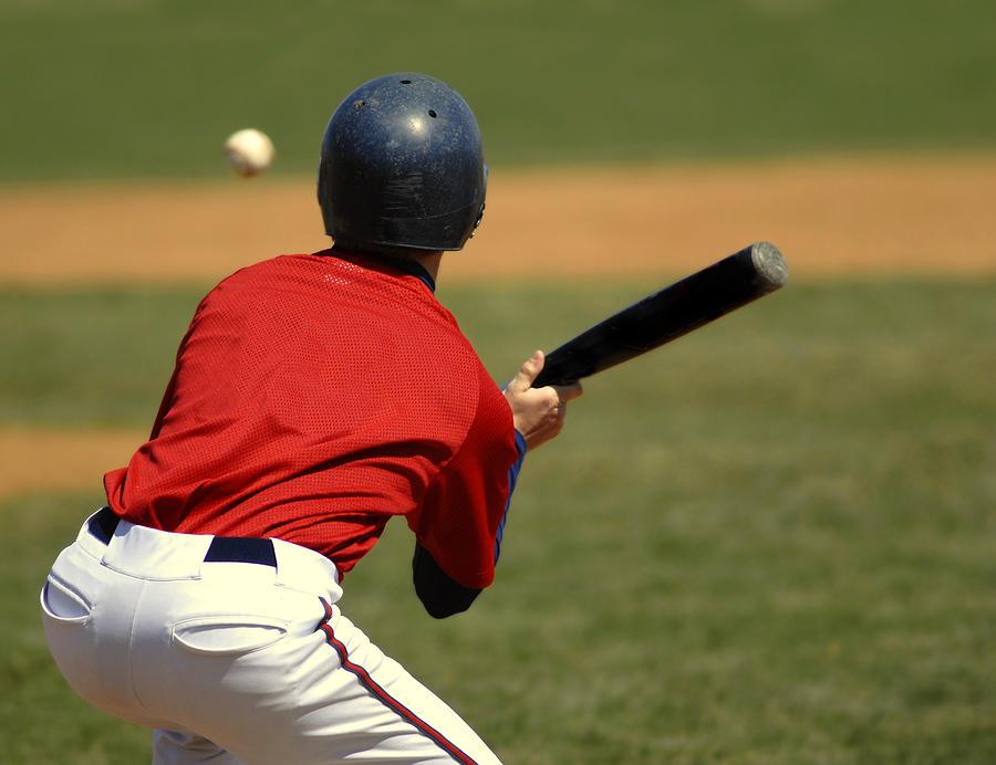 Helmet Photograph - Baseball Batter by Lane Erickson