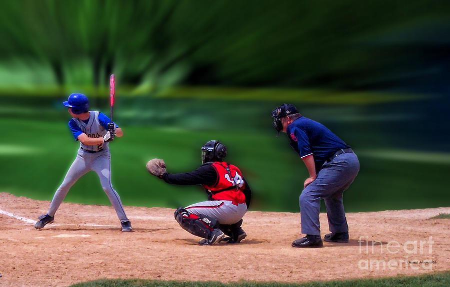 Sports Photograph - Baseball Batter Up by Thomas Woolworth