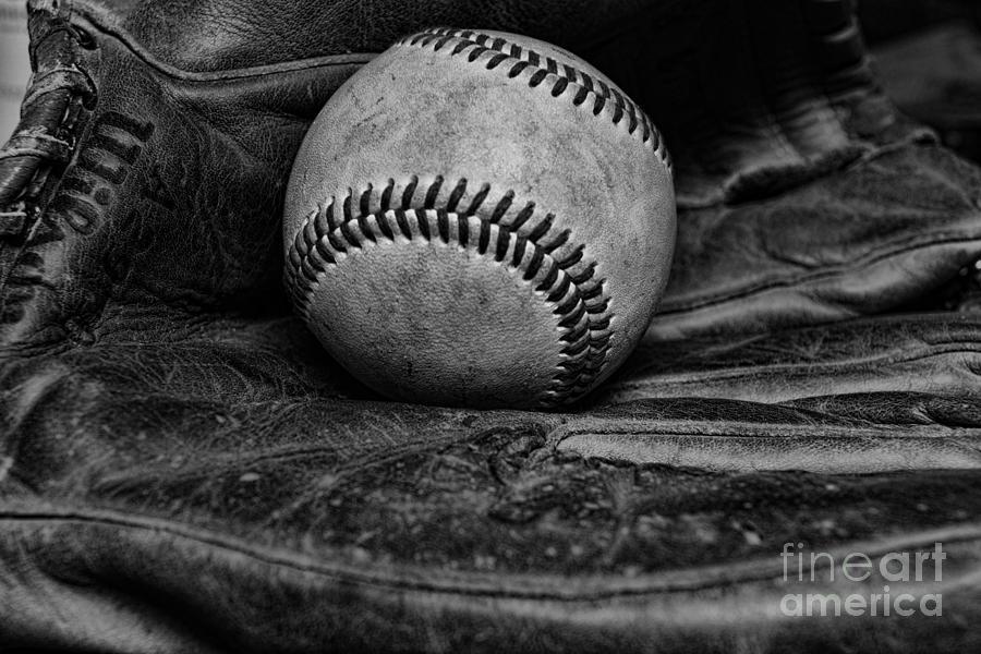 Paul ward photograph baseball broken in black and white by paul ward