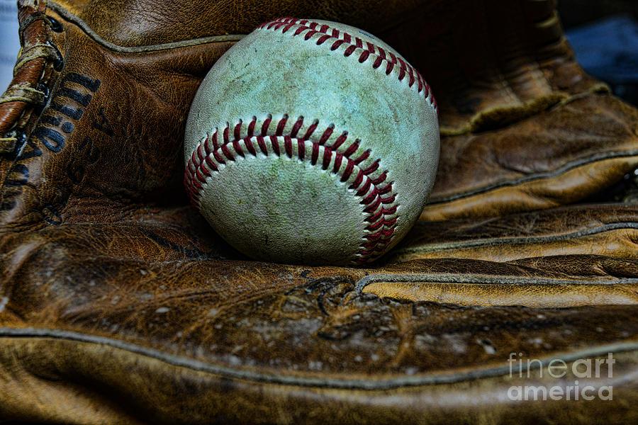Paul Ward Photograph - Baseball Broken In by Paul Ward