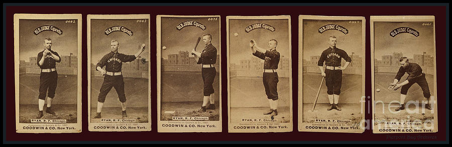 Baseball Cards Old Judge Cigarettes Player R F Ryan Chicago 1887