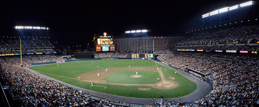 Color Image Photograph - Baseball Game Camden Yards Baltimore Md by Panoramic Images