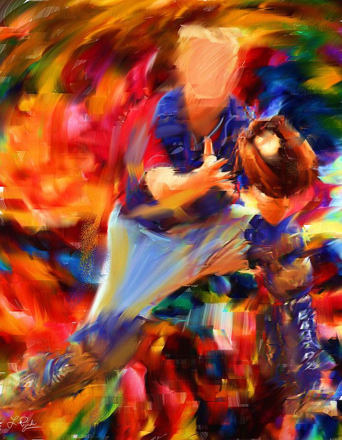 Baseball Digital Art - Baseball II by Lourry Legarde