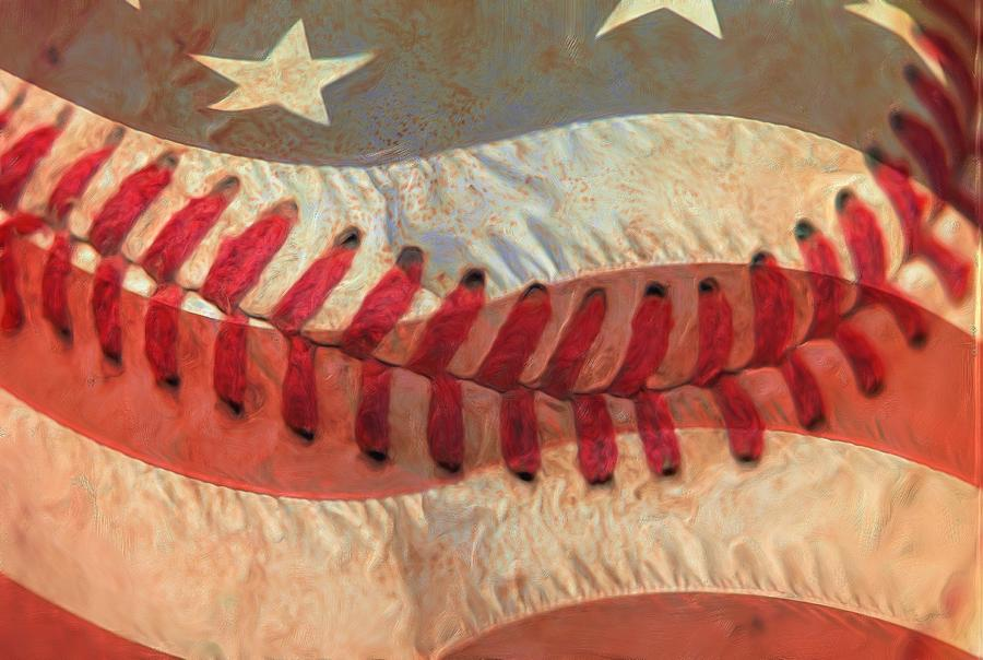 America Photograph - Baseball Is Sewn Into The Fabric by Heidi Smith