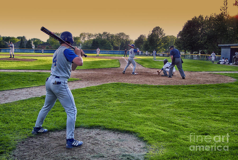 Sports Photograph - Baseball On Deck Circle by Thomas Woolworth