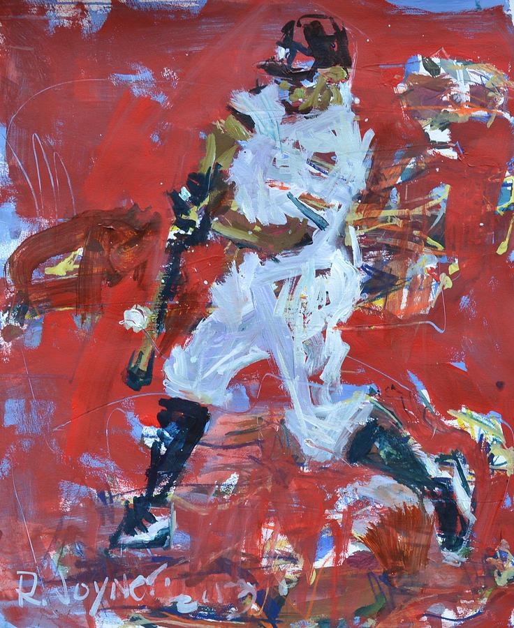 Art Mixed Media - Baseball Painting by Robert Joyner