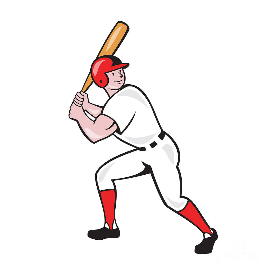 A Picture Of A Cartoon Bat baseball player bat side isolated cartoon