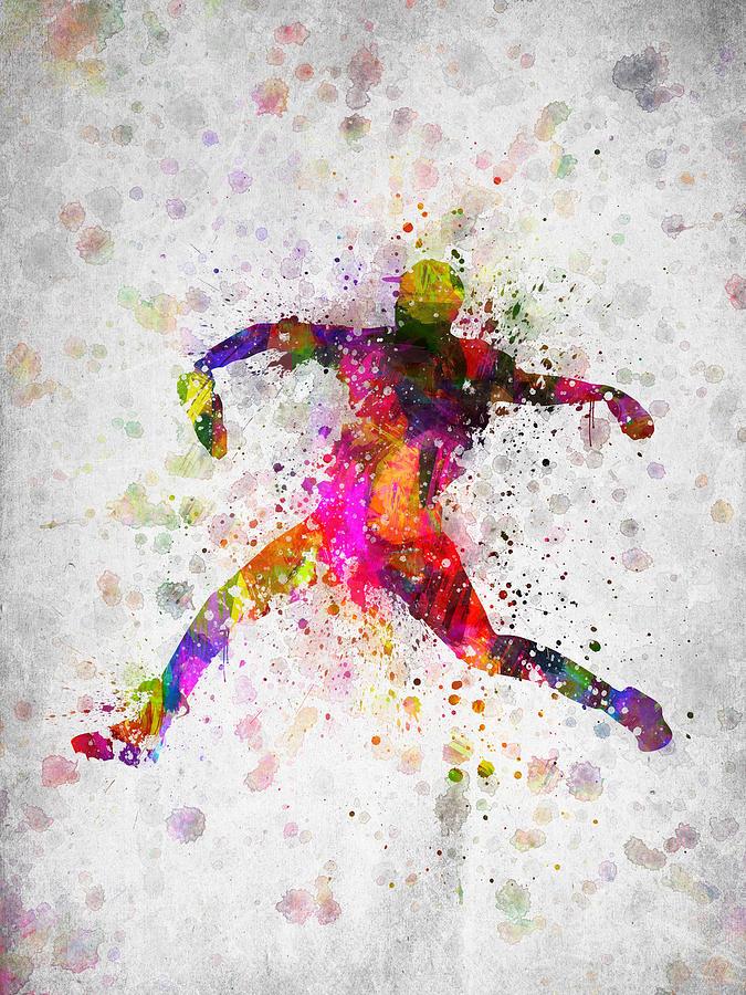 Baseball Player - Pitcher Digital Art