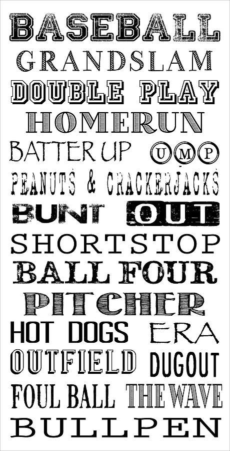 Baseball Digital Art - Baseball Subway Art by Jaime Friedman