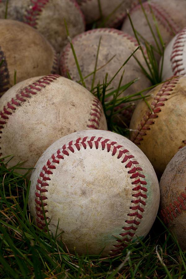 Baseball Photograph - Baseballs by David Patterson