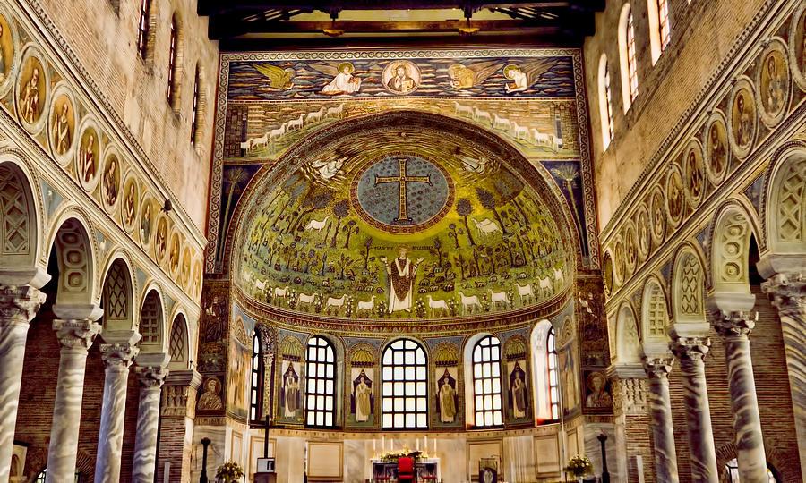 Ravenna Italy Photograph - Basilica Di Santapollinare Nuovo - Ravenna Italy by Jon Berghoff