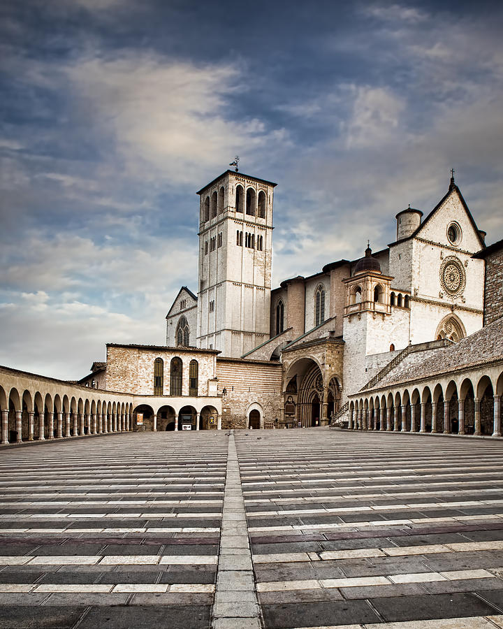 Italy Photograph - Basillica of St Francis of Assisi in Italy by Good Focused
