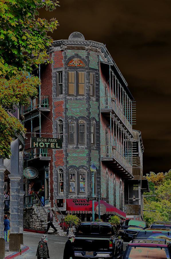 Fantasy Photograph - Basin Park Hotel by Jan Amiss Photography
