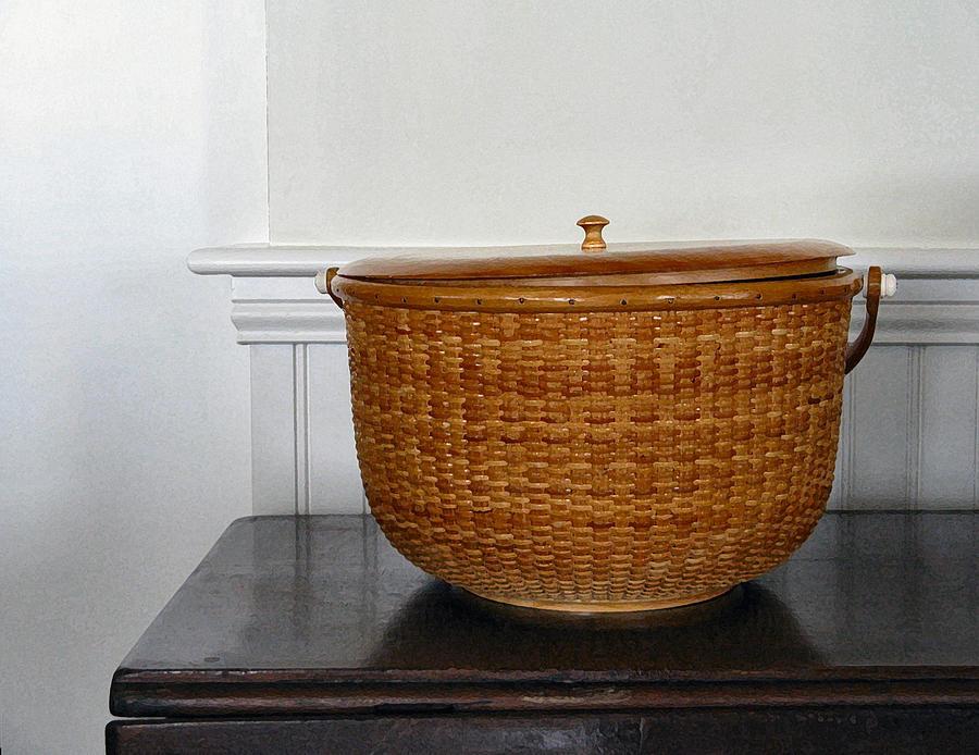 Nantucket Basket Photograph - Basket Case - 1 by Lin Grosvenor