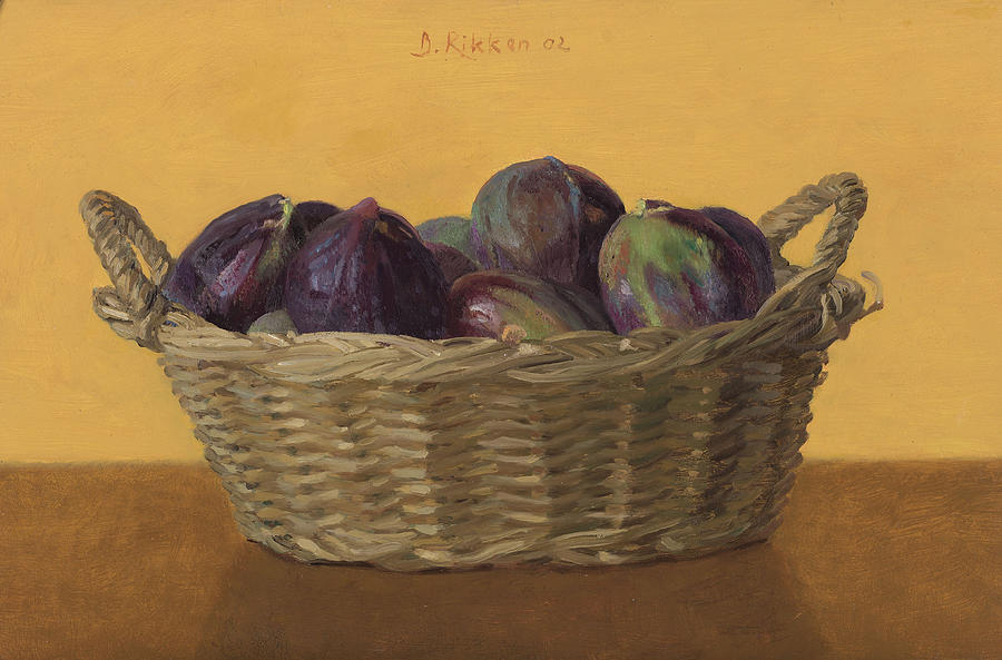 Fruit Painting - Basket Filled With Figs by Ben Rikken