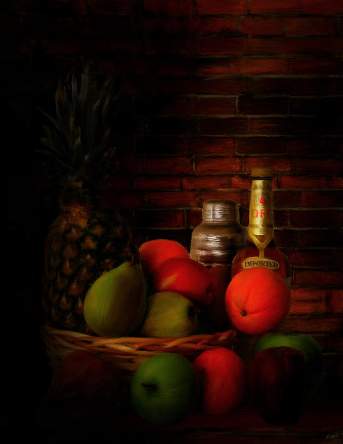 Wine Digital Art - Basket Of Colors by Lourry Legarde
