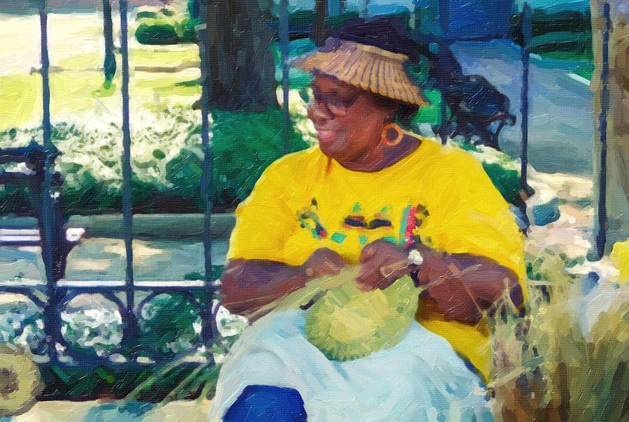 Lowcountry Photograph - Basket Weavers Of Savannah Georgia by Patricia Greer