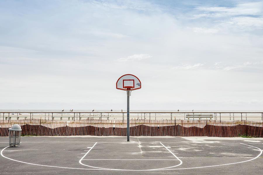 Basketball Court Against Cloudy Sky Photograph by Sebastian Kopp / Eyeem