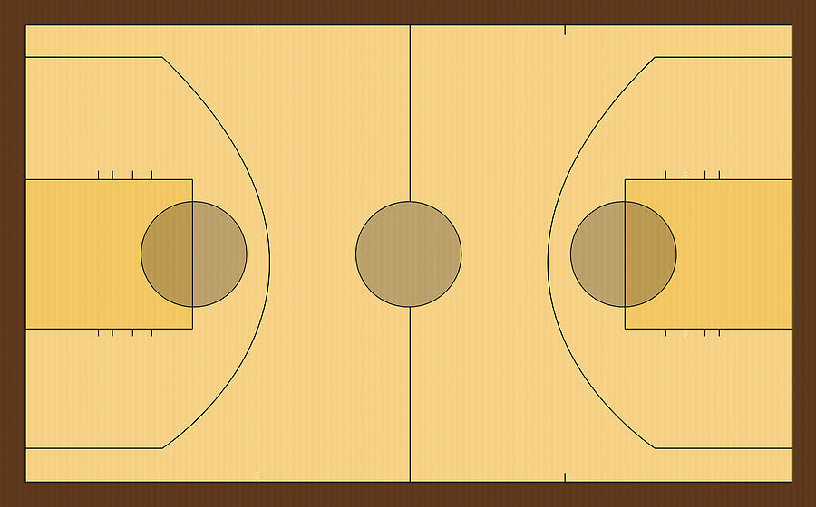 Basketball Court Digital Art