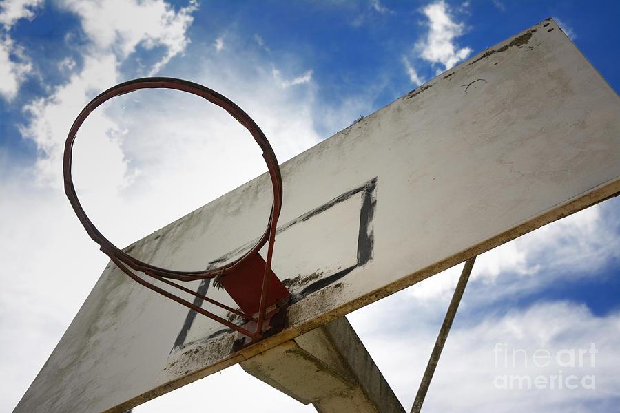Outdoors Photograph - Basketball Hoop by Bernard Jaubert
