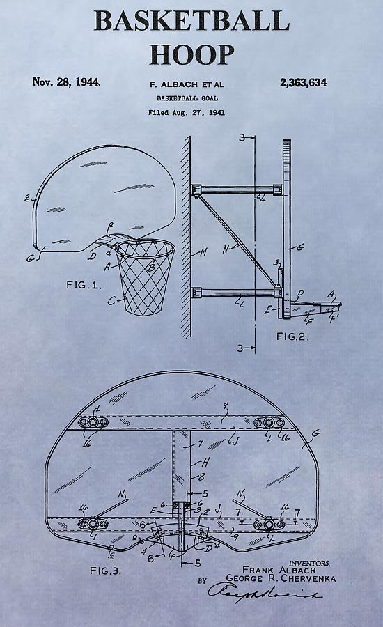 Basketball Hoop Digital Art - Basketball Hoop by Dan Sproul