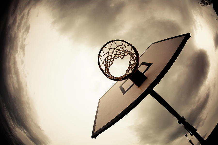 Basketball Hoop, Dramatic Sky Photograph by Zodebala