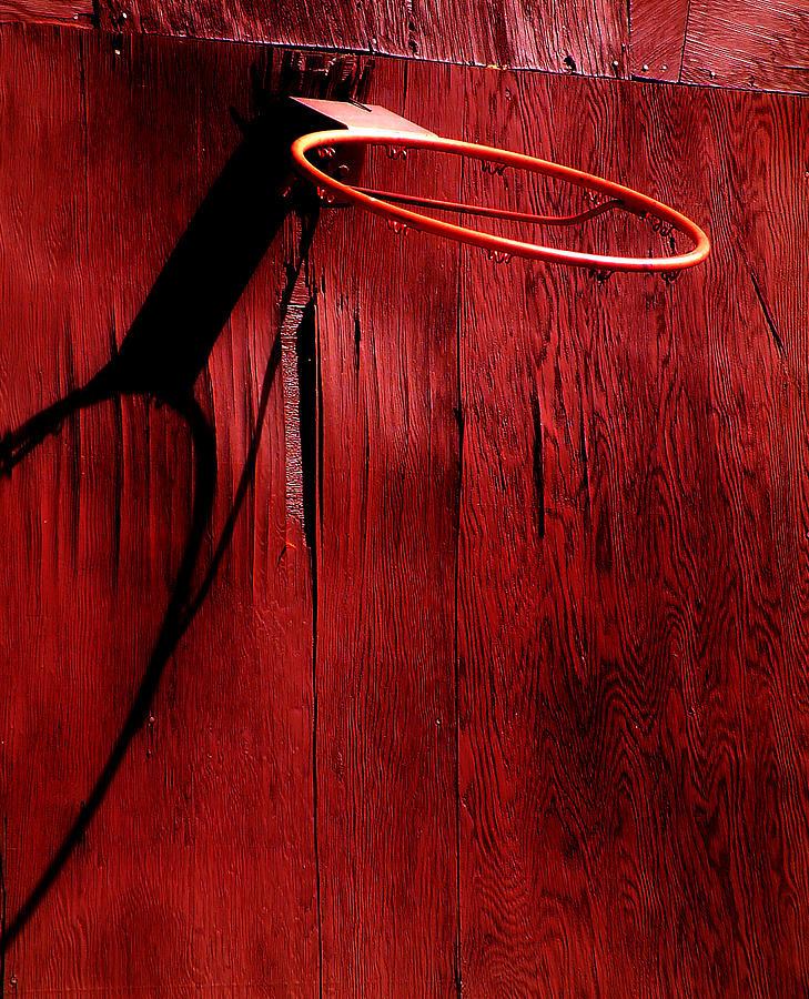 Red Photograph - Basketball Hoop by Lane Erickson