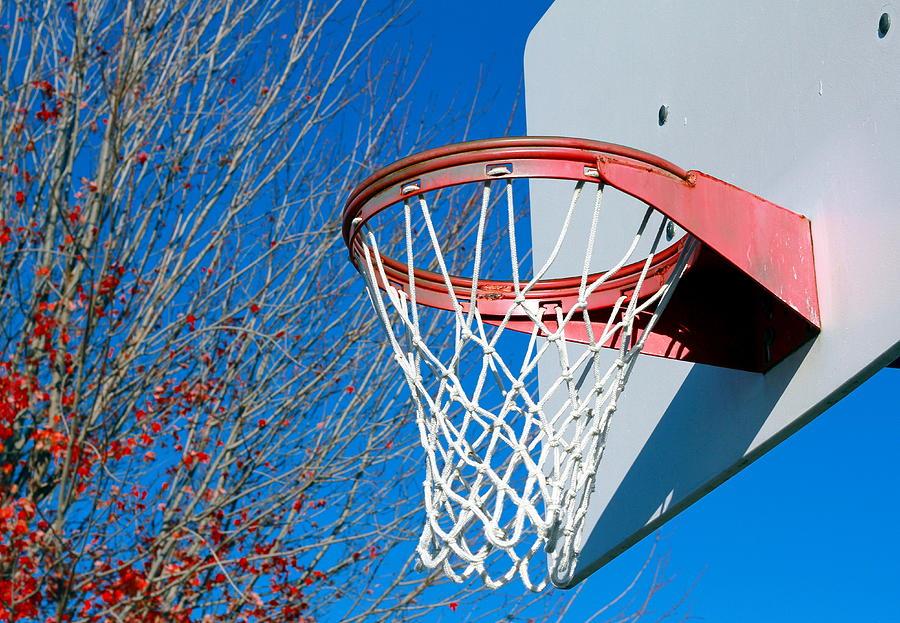 Net Photograph - Basketball Net by Valentino Visentini