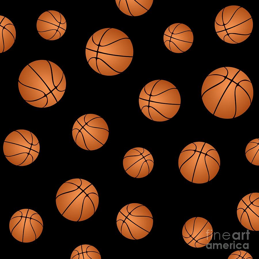 Basketball Pattern Digital Art By Li Or