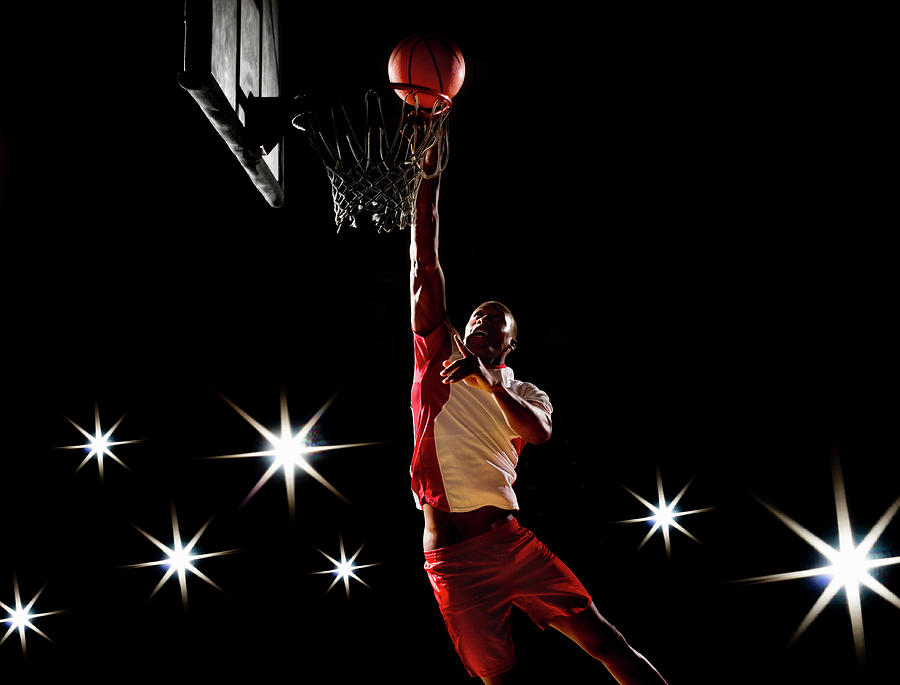 Basketball Player Dunking Basketball On Photograph by Compassionate Eye Foundation/chris Newton