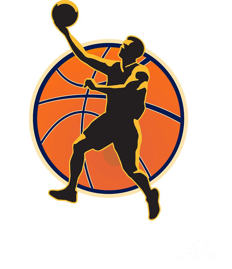 Basketball Digital Art - Basketball Player Lay Up Ball by Aloysius Patrimonio