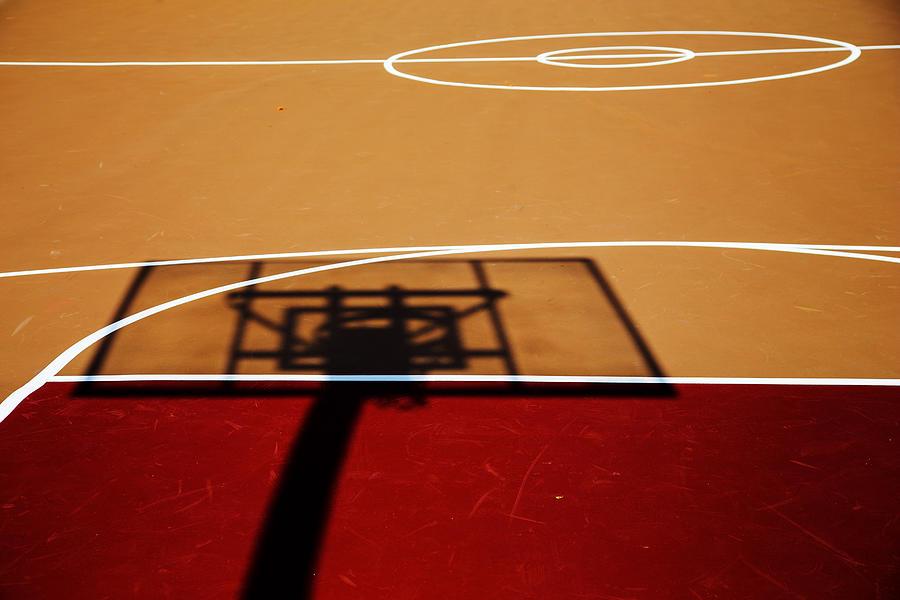 Basketball Shadows Photograph