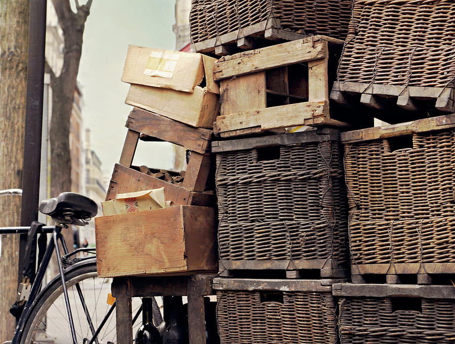 Baskets In Paris Photograph by Sharon Lapkin