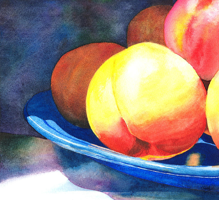 Peaches Painting - Basking by Charne Gooch