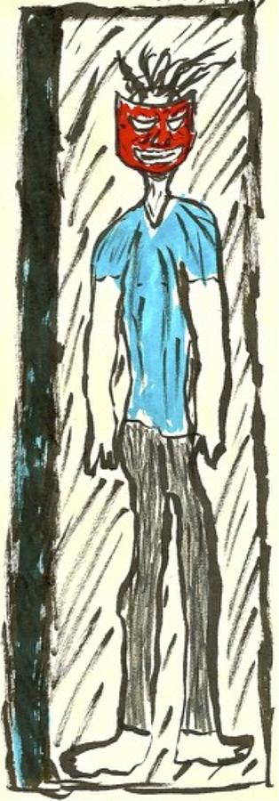 Basquiat - Doorways 11-001 Drawing