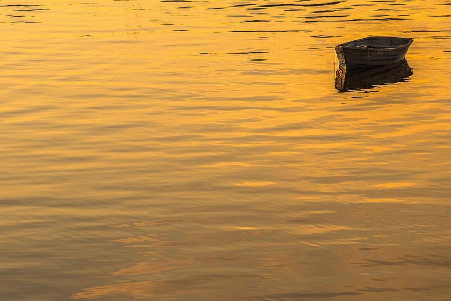Dinghy Photograph - Bass Harbor Dinghy by Joseph Rossbach