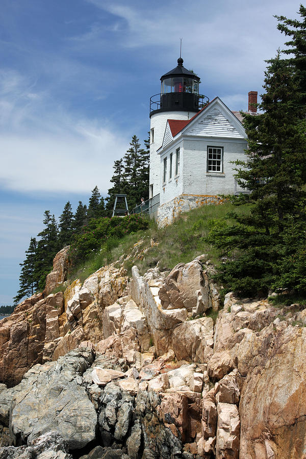 National Park Photograph - Bass Harbor Light by Acadia Photography