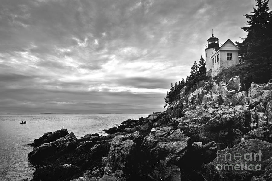 Bar Harbor Photograph - Bass Harbor Lighthouse At Dusk by Diane Diederich