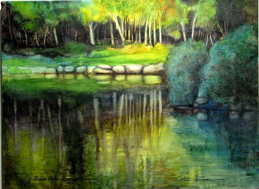Bass Lake Reflection by Peter Senesac