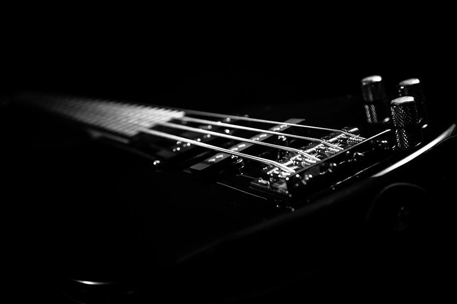 Bass Photograph - Bass On Black by Robert Hayton