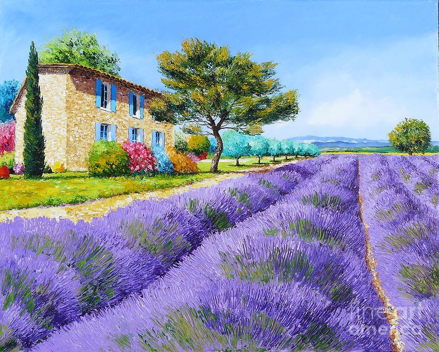 Cottage Painting - Bastide by Jean-Marc Janiaczyk