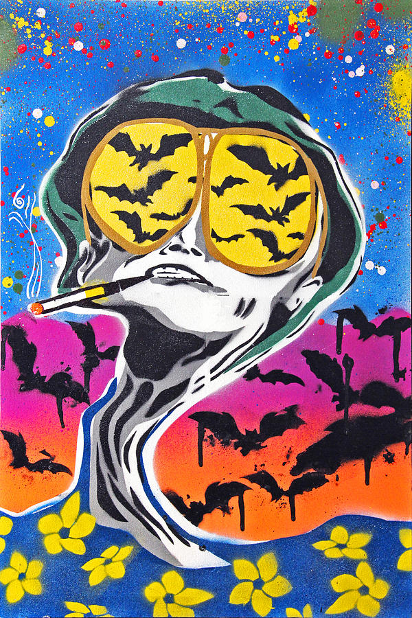 Process Painting - Bat Country by Victor Cavalera